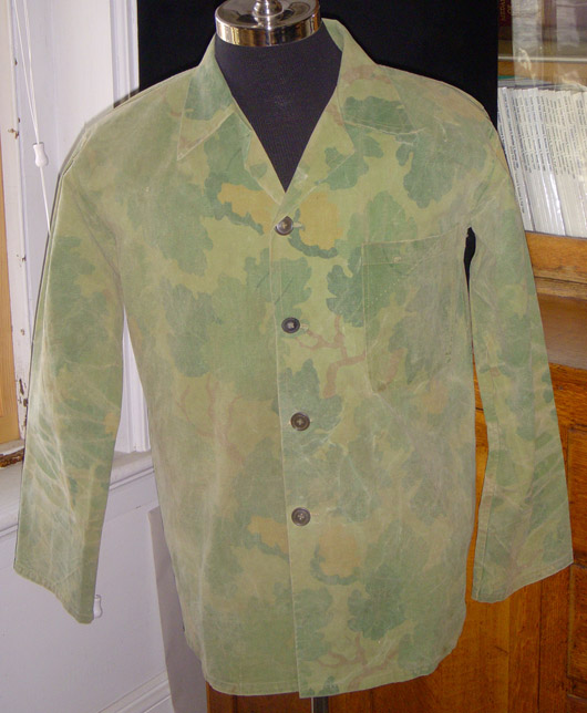 US Marine Corps Force Recon Camo 2-Pc Suit Made from WWII Shelter-Half