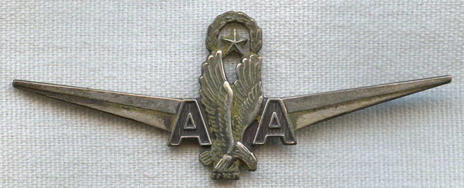 Circa 1960s Silver Filled American Airlines Senior Or