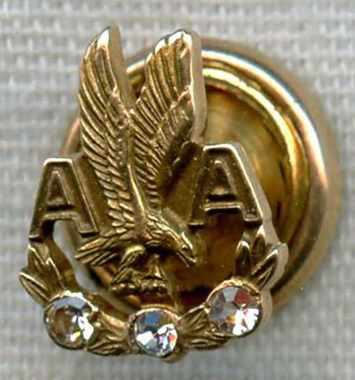 1960s American Airlines 30 Years Of Service Pin In 10k