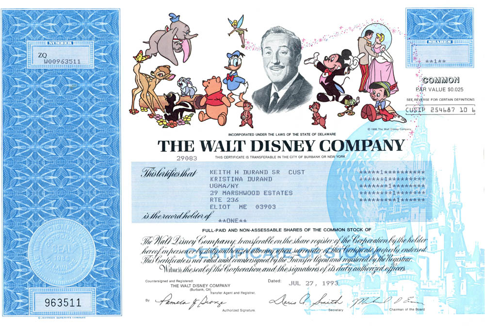 stock certificate online