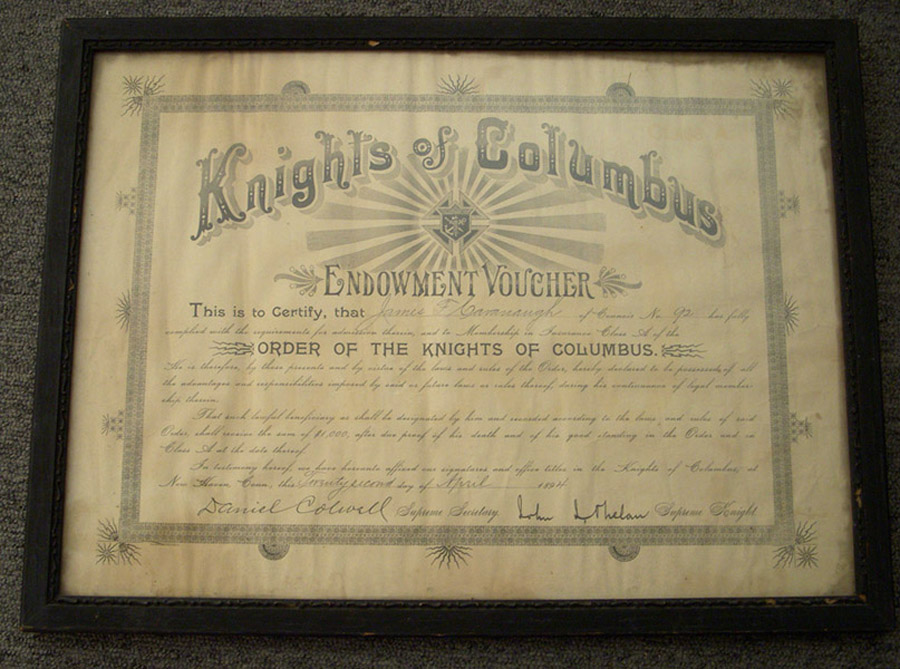 how to become a first degree knight of columbus