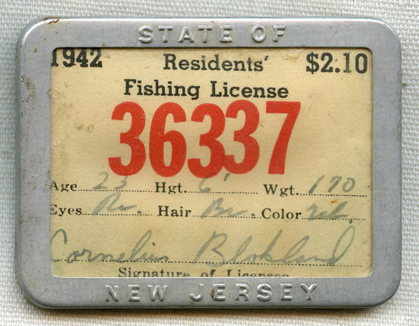 Flying tiger antiques online store 1942 new jersey state for New jersey fishing license