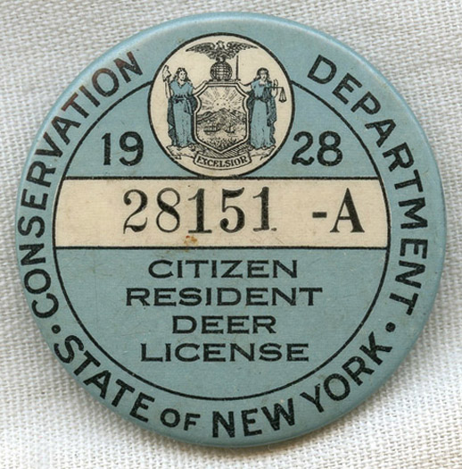Flying tiger antiques online store scarce 1928 new york for Fishing license ny