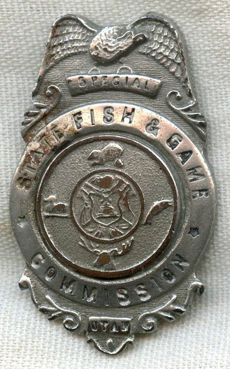 Rare 1920s 1930s utah state fish game commission special for Utah game and fish
