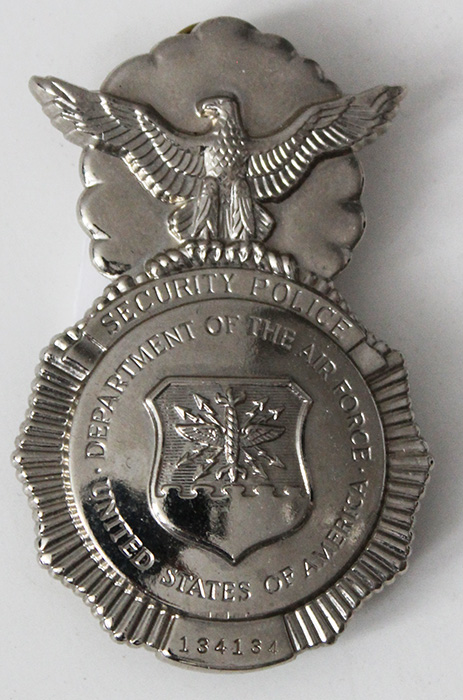 Nice 2000's USAF Security Police Badge #'d 134134: Flying