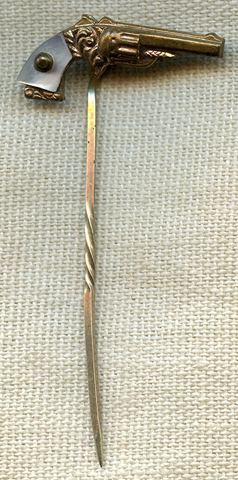 Great 1870's - 80's Old West or Gambler's Pocket Pistol Stick Pin
