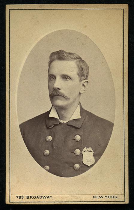 Wonderful 1870s New York City Municipal Police Sergeant Carte De Visite CDV Flying Tiger Antiques Online Store