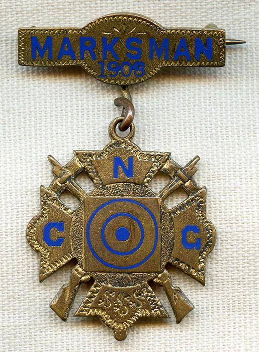 Vintage Enamel Award Bar Pinback Law Enforcement Military Police