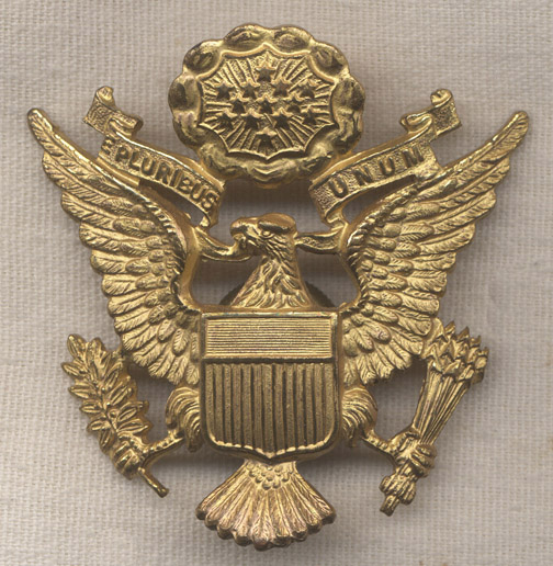 70d2a225 1930s US Army Officer Cap Badge UK-Made by J. R. Gaunt: Flying Tiger  Antiques Online Store