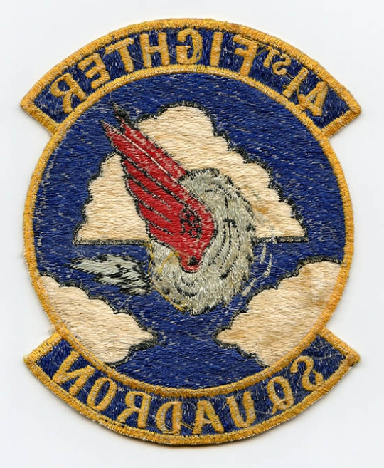 77bb3e6e7 Large & Nice, Early 1950's - Korean War Era USAF 41st Fighter Squadron  Jacket Patch. Japanese-Made