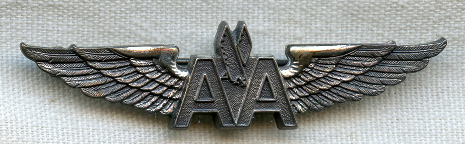 Silver Filled American Airlines Flight Attendant Wing Type