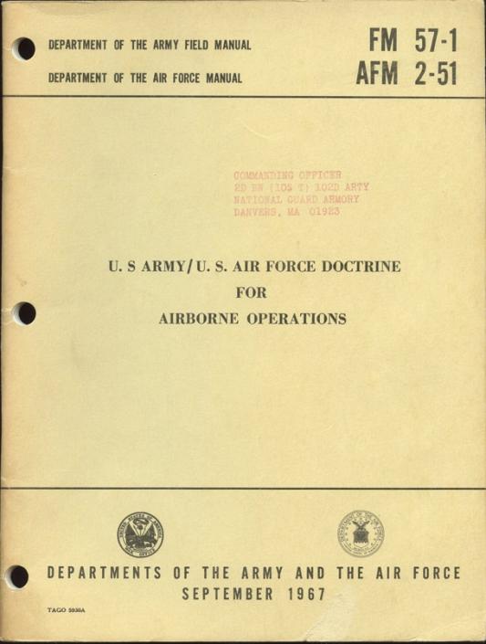 vietnam war era field manual fm 57 1 afm 2 51 us army us air force rh flyingtigerantiques com army field manual 100-5 army field manual 100-7