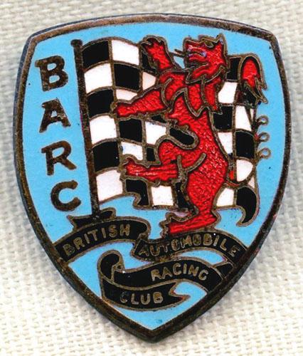 British Automobile Racing Club lapel pin