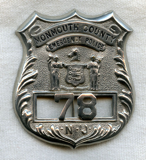 Circa 1930s Monmouth County, New Jersey Emergency Police ...