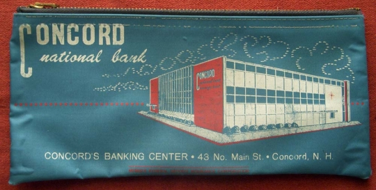 Vintage 1960s Concord (New Hampshire) National Bank Deposit Bag