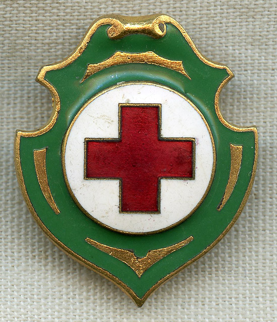 c5b9bc335b Beautiful WWI Croce Rossa Italiana (Italian Red Cross) by Johnson in  Milano: Flying Tiger Antiques Online Store