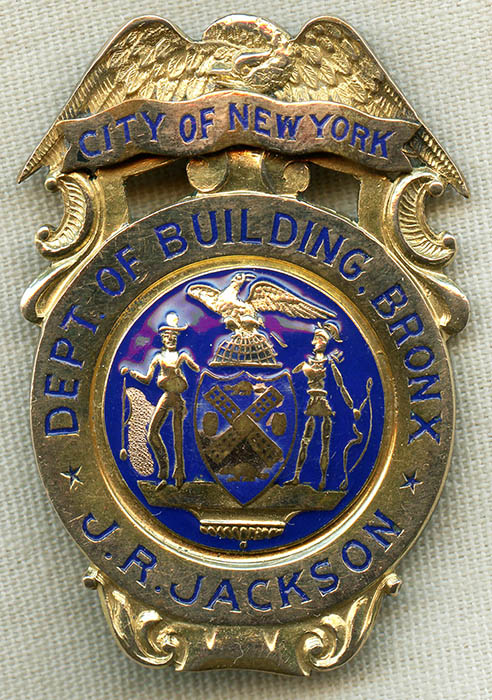 Gorgeous 1910's -20's City of N.Y. Bronx Dept. of Building ...