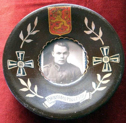 WWII Finnish Soldier Commemorative Plaque