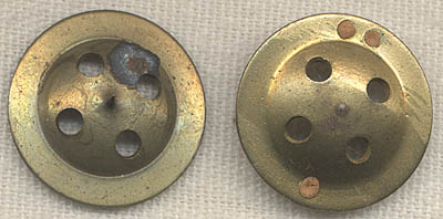 Pair of WWII Brass Trouser Escape Compass Buttons: Flying
