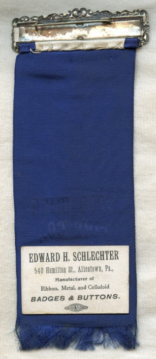 Minty 1904 Goodwill Fire Co  Belvidere, New Jersey Parade or Muster Ribbon  from Flemington, NJ
