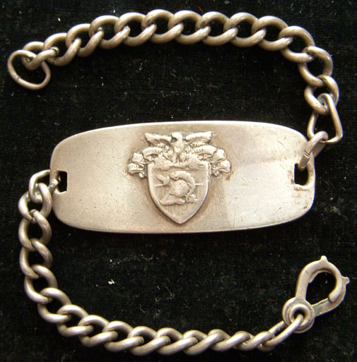 Great Engraved World War I USMA West Point Sterling Silver Bracelet