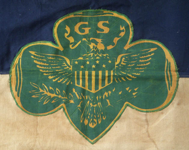Scarce 1940s Girl Scout Troop Flag Flying Tiger Antiques Online Store
