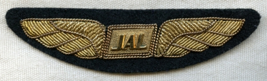 Ca  1970 Japan Airlines (JAL) Bullion Pilot Wing: Flying