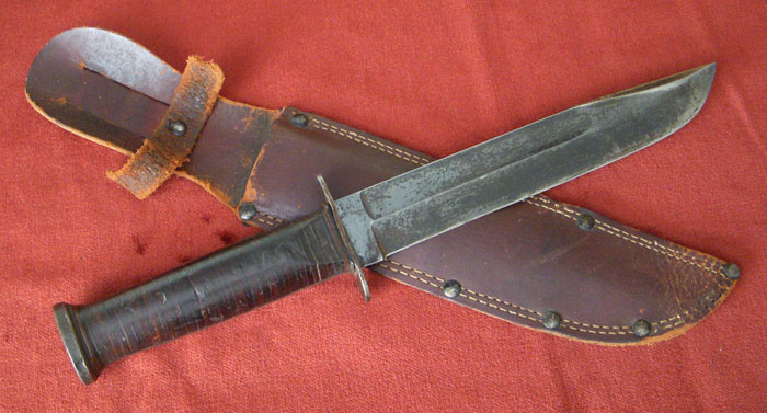Large Wwii Us Military Used Commando Fighting Knife By