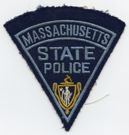 6121322d761a5 Early 1950 s MA State Police Shoulder Patch Silk Emb. on Gabardine Wool