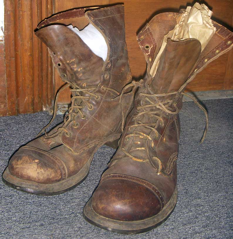 Pair Wwii Us Army Paratrooper Boots Size 9 1 2 D Flying