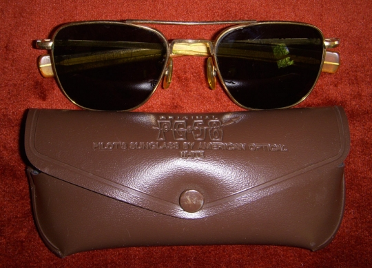 93c539157b5 Vintage 1970s USAF PG-58 Pilots Sunglasses with Case by American Optical  Private Purchase  Flying Tiger Antiques Online Store