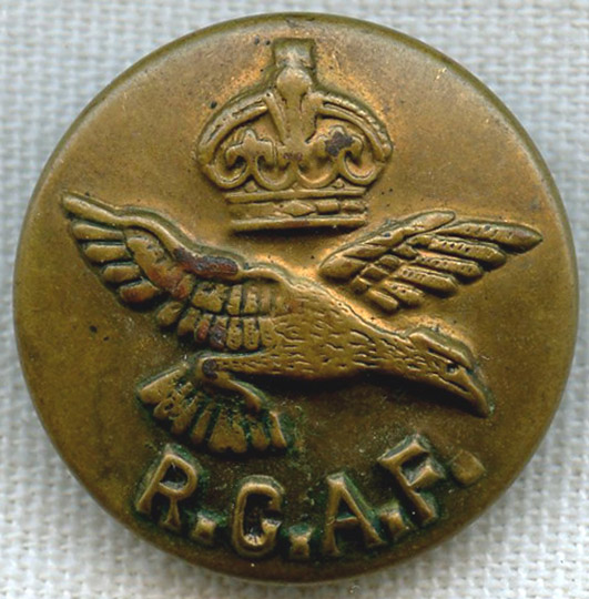 Large WWII Royal Canadian Air Force (RCAF) Uniform Button by United-CARR