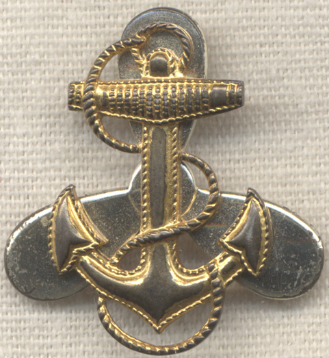 Sterling WWII US Navy WAVES Lapel Badge