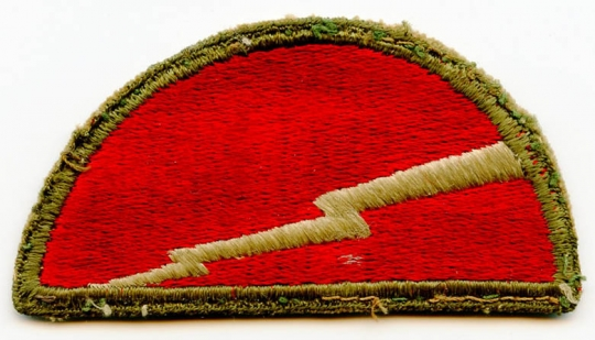 """WWII US Army 78th Infantry Division (aka """"Lightning) Patch: Flying Tiger  Antiques Online Store"""