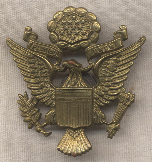 42009c0d WWII Australian-Made US Army Officer Cap Badge by K.G. Luke: Flying Tiger  Antiques Online Store