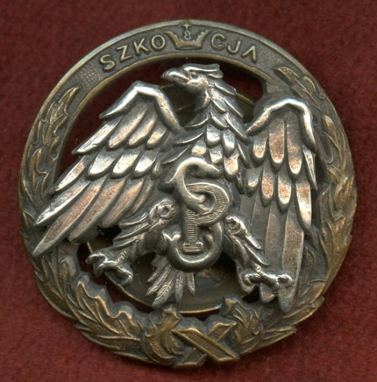 Nice WWII Officers Badge for Graduate of Polish School of Infantry &  Motorized Cavalry in Scotland
